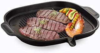 Korean BBQ Nonstick Grill Pan - Induction Stovetop Compatible Aluminum Non-stick Coating Grill Pan for Indoor and Outdoor ...