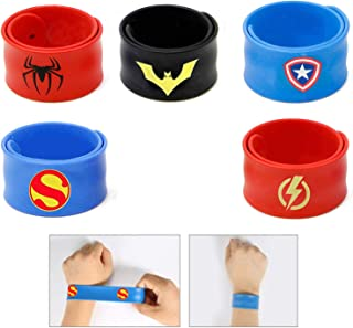 Slap Bracelets for Kids Party Supplies Favors Boy's Wristband Accessories Wrist Strap Gift Supplies (5-Pack)