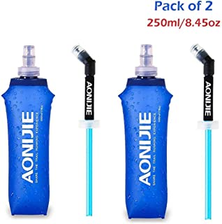 AONIJIE 2Pack of Foldable Sports BPA PVC Free Running Water Kettle Soft Hiking Flask Hydration Bottle