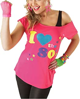 f00192fcf Red Olives Womens I Love The 80s T Shirt Short Sleeves Ladies Retro Pop  Star Tees