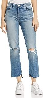 Le High Straight-Leg Released Step-Hem Cropped Jeans, Arrington Wash