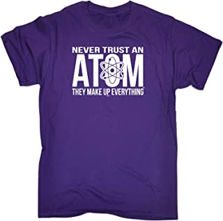 123t Kids Funny Tee - Never Trust an Atom - Childrens Top T-Shirt T Shirt
