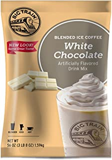 Big Train Blended Ice Coffee, White Chocolate Latte, 3.5 Pound, Powdered Instant Coffee Drink Mix, Serve Hot or Cold, Makes Blended Frappe Drinks