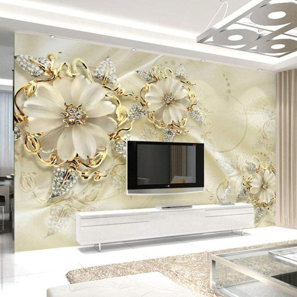 European Style Jewelry Flower Tv Custom Wa Wall Background Mural Challenge the lowest price Deluxe of Japan
