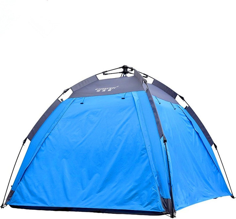 QAR DREI-Personen Doppeldecker Automatische Zelt Doppel Multi-Anti-Regen Sturm Zelt Camping Zelt Zelt B07FCGV3HN  Bevorzugte Boutique