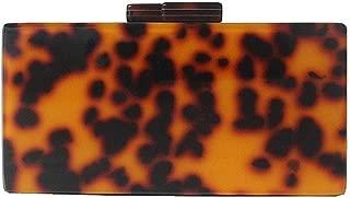 Redland Art Women's Fashion Mini Leopard Print Acrylic Clutch Bag Wristlet Catching Purse Evening Handbag for Wedding Party (Color : Orange)