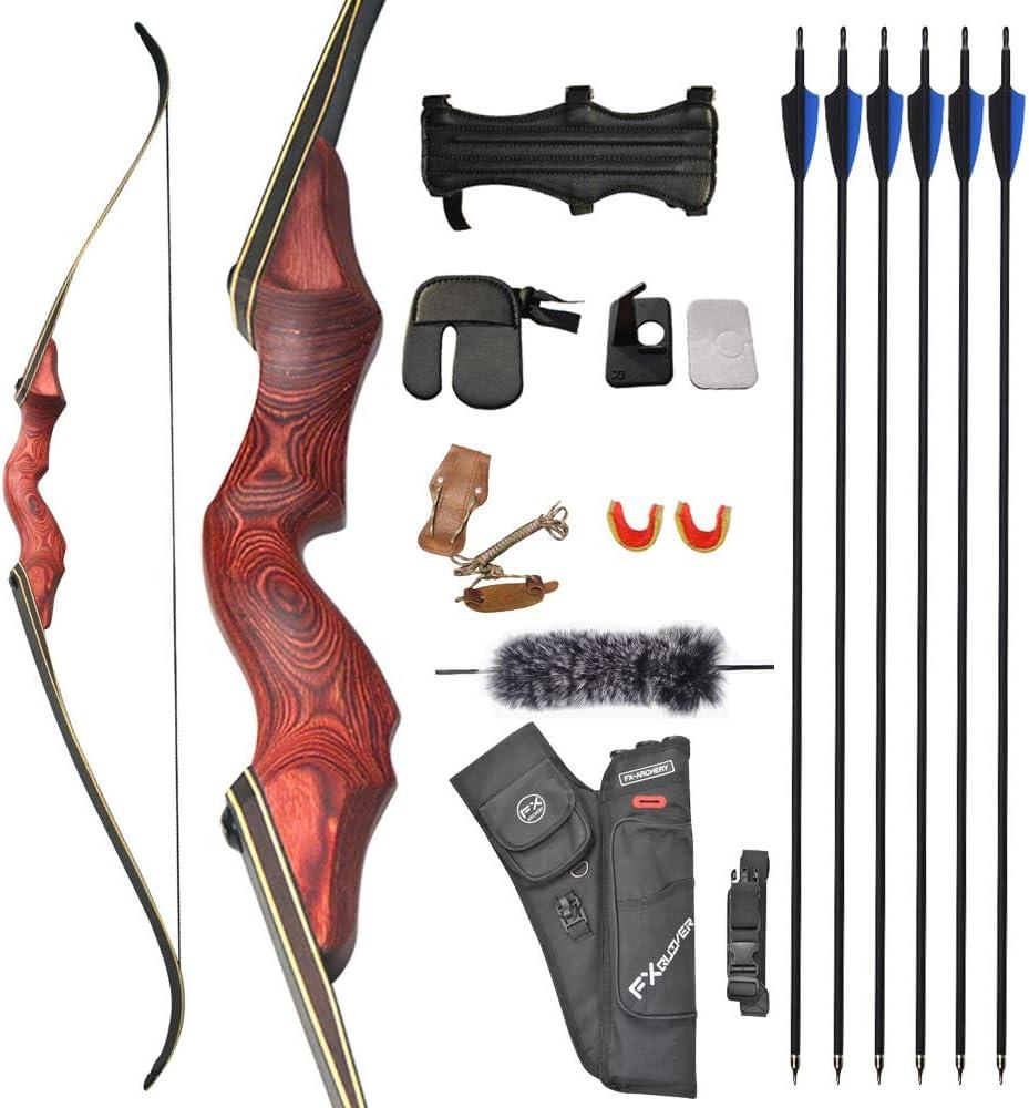 ZSHJGJR 60 Inch Recurve 5 popular Bow and Over item handling ☆ Recur 25-65lbs Set Hunting Arrow