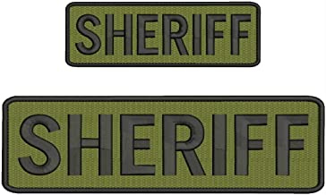 INVESTIGATOR embroidery patches 3x10 and 2x4 hook black tan