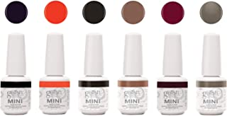 Gelish Mini Rendezvous Collection 9 mL Manicure Pedicure Soak Off Gel Nail Polish Set, 6 Pack