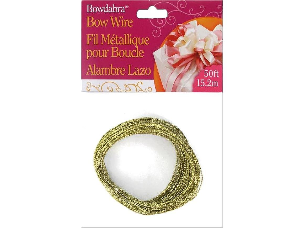 Darice DARBOW3030 Bowdabra Wire Gold, 50'
