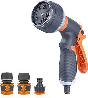 Sponsored Ad – Garden Hose Spray Nozzle, 8 Adjustable Patterns Garden Hose Spray Gun, High Pressure Spray Nozzle Perfect f...