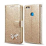 QLTYPRI Case for Huawei P10 lite, Glitter Premium PU