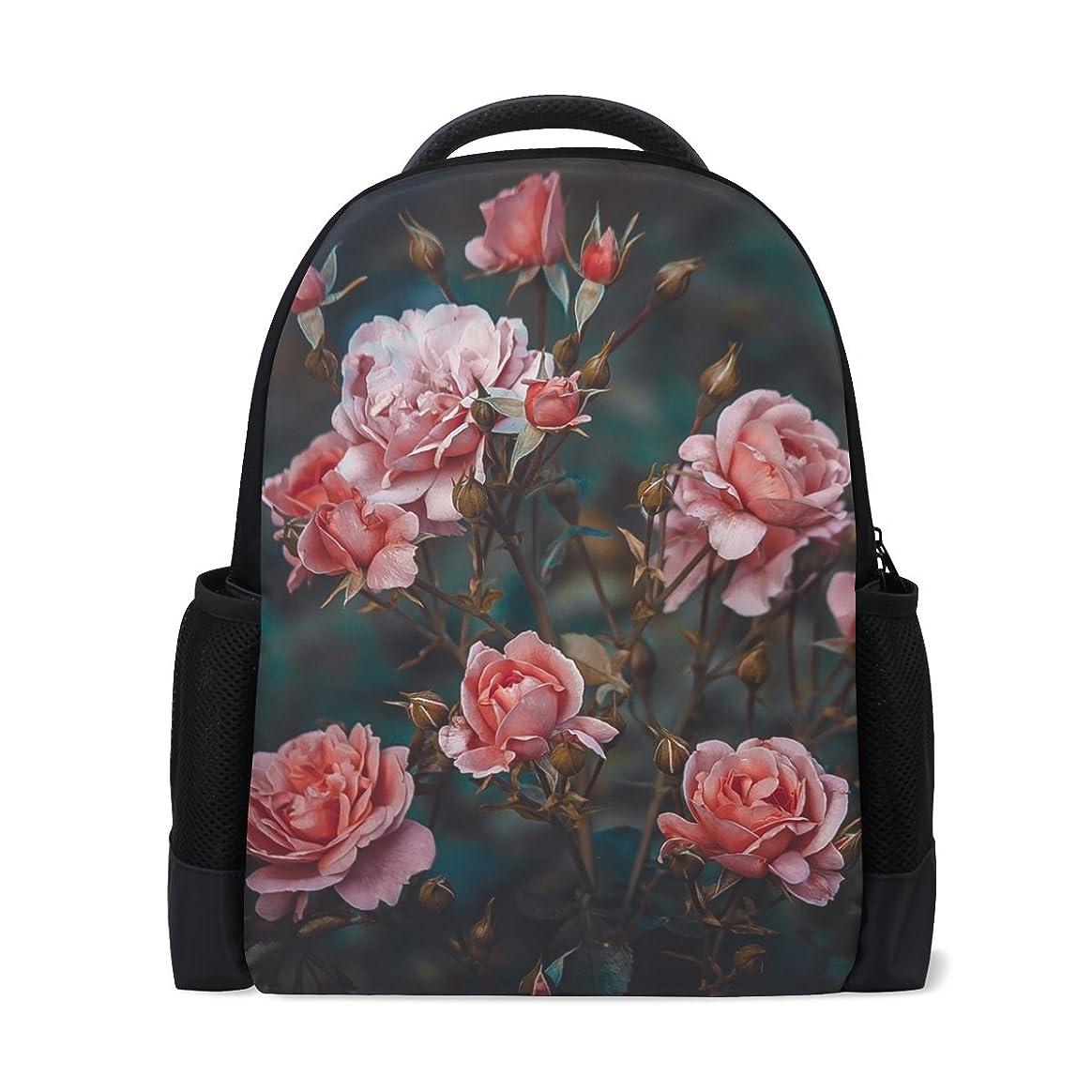 コンプリートから習慣AOMOKI バッグ リュック リュックサック 男女兼用 旅行 大容量 プレゼント バラ柄