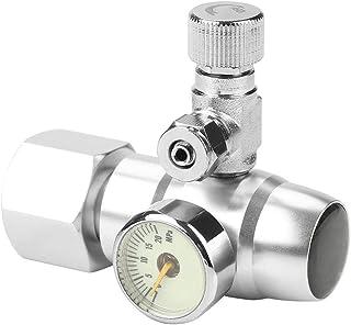 co2 電磁弁 レギュレーター CO2 レギュレータ圧力計 二酸化炭素の調整装置 小型 水族館 水草水槽用 簡単 精密構造の大きい ゲージ表示 CO2水槽レギュレータ シルバー ステンレス鋼 アルミ合金(g5/8)