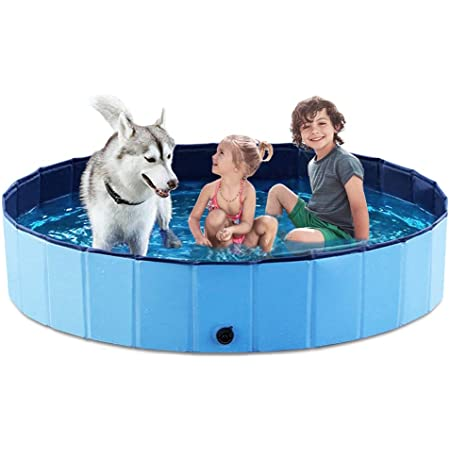 PVC Bathing Tub Outdoor Swimming Pool for Large Small Dogs Portable Kiddie Pool for Kids lunaoo Foldable Dog Pool