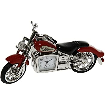 HARLEY DAVIDSON HARLEY DAVIDSON NOUVEAU MOTORBIKE DARGENT MINI NOUVEAU DESKTOP HORLOGE