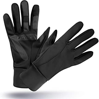 FanVince Running Gloves Touch Screen Winter Warm Glove - Windproof Water Resistant for Cycling Driving Phone Texting Outdoor Hiking Hand Warmer in Cold Weather for Women and Men Black