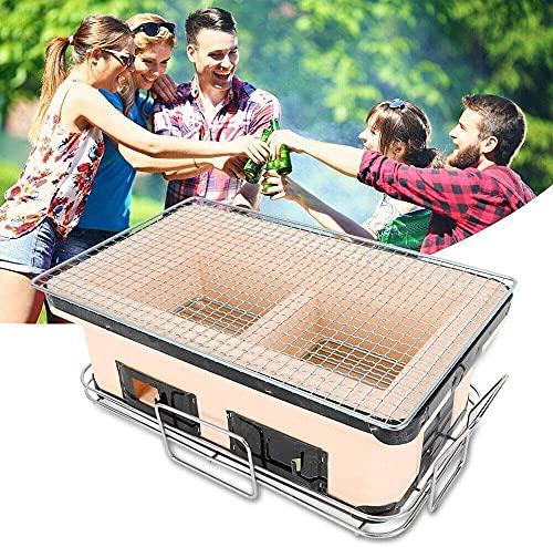 FHISD Coal Table Grill, Table Grill, Ceramic Coal Grill, Barbecue Yakitori Barbecue, Porous Ceramic Barbecue barbecue41x25x17cm