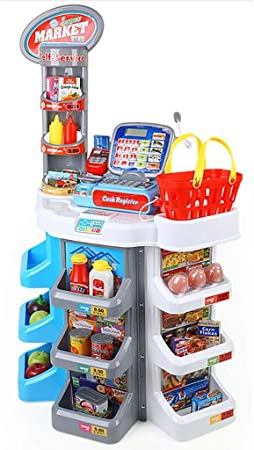 Juguetes de cocina Utensilios de Cocina Juegos de Cocina ABS niños Simulación Supermercado Caja registradora Juguete Grande Memo Vida Juguete Juego de Roles Regalo de cumpleaños: Amazon.es: Hogar