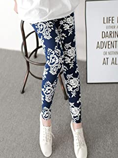 Women's Casual Yoga Leggings Fashion Skinny Embroidery Pattern Printing Elastic Cropped Sports Pant