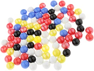 Tongina 360pcs/set Colored Glass Marbles Balls Chinese Checkers Marble Solitaire Toy