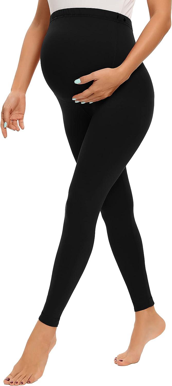 V VOCNI Maternity Leggings for Women Over The Belly Pregnant Leggings Workout Lounge Pregnancy Pants at  Women's Clothing store