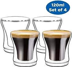 Ecooe - Juego de 4 Vasos t¨¦rmicos para Espresso (120 ML)