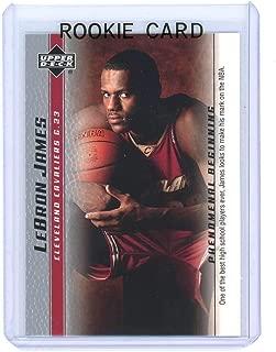 2003 Upper Deck Phenomenal Beginning #10 Lebron James High School Rookie Card - Ships in a brand new holder