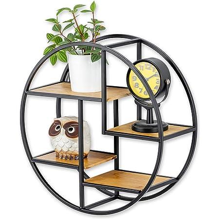 Estantería de pared metálica circular, con estantes, de color ...