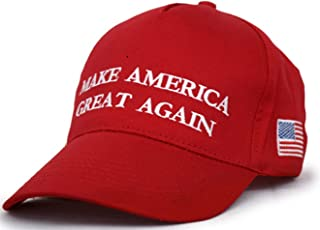 5427b87b4a3 Besti Make America Great Again Donald Trump Slogan with USA Flag Cap  Adjustable Baseball Hat Red
