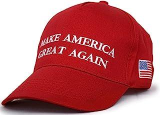a3f6af7c2af Besti Make America Great Again Donald Trump Slogan with USA Flag Cap  Adjustable Baseball Hat Red