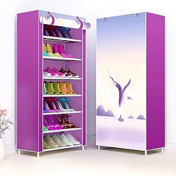 Bastidores de calzado independientes de 7 niveles, bastidor de zapato de tela no tejida Estante extraído Zapatos de bastidor Soportes de gabinete, Organizador de almacenamiento de calzado de polvo: Amazon.es: Hogar