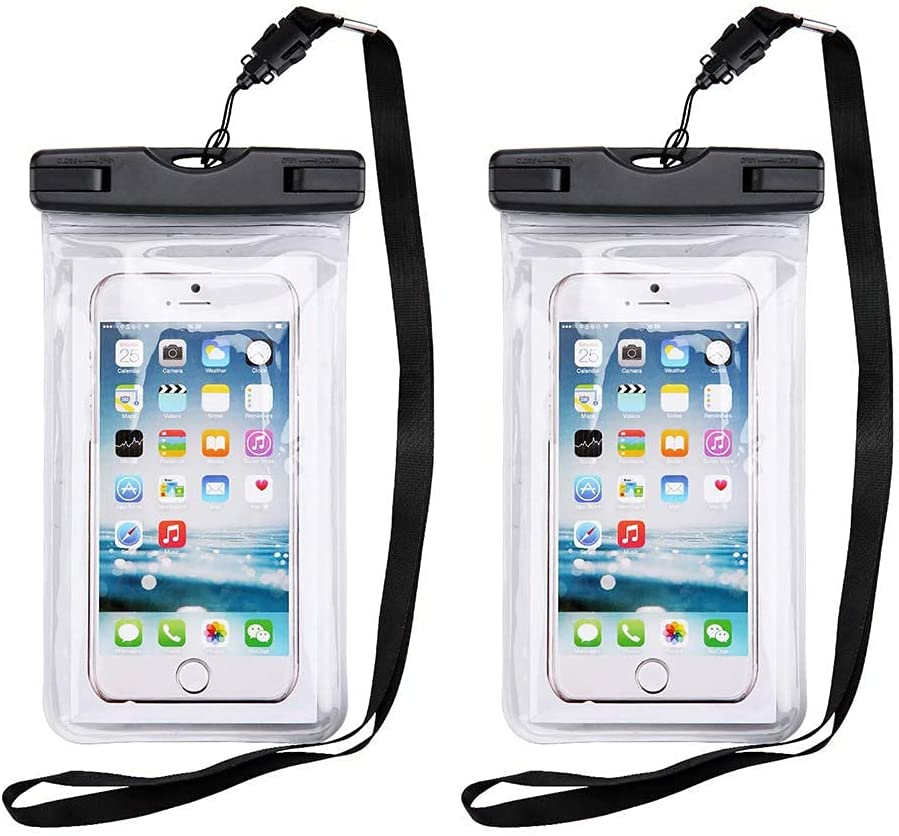Universal Waterproof Case,2-Pack-Phone Pouch Compatible for iPhone 12 Pro 11 Pro Max XS Max XR X 8 7 Samsung Galaxy s10/s9 Google Pixel 2 HTC Up to 7.0