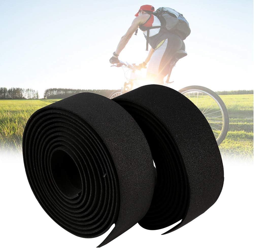 Sweat-Absorbent Comfortable Grip Cycling Road Bike Handlebar Tape with 2 Bar Plugs Pack of 2cs Bicycle Handlebar Grip Wrap Tape