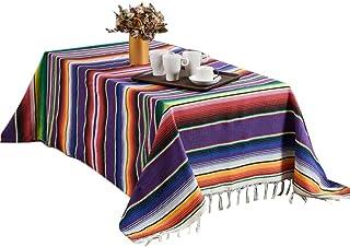 SOWLFE Manta Mexicana Mantel de Rayas para Decoraciones de