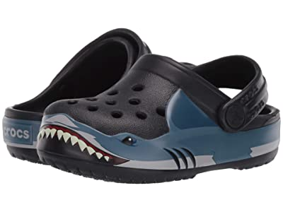 Crocs Kids Fun Lab Shark Band Clog (Toddler/Little Kid) (Black) Boy