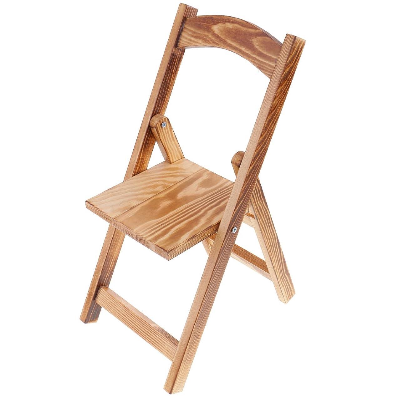 のれん絶えず鋸歯状Dovewill  1/3スケール BJDドール適用 人形 木製 折り畳み 椅子