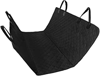 "Bloodyrippa Dog Car Seats Cover with Hammock, Waterproof Fabric, Built-in Non-Slip Backing, Fits Most of Standard Cars, Trucks, SUV, 58""x54"", Black"
