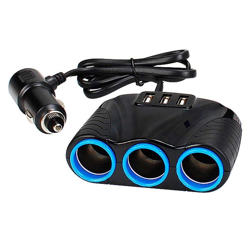 誤ってカメラ壁Funtoget 車のUSB充電器、自動、デュアルポート車の充電器、3ウェイ車のシガーライターソケットスプリッタデュアルUSB充電器電源アダプタ