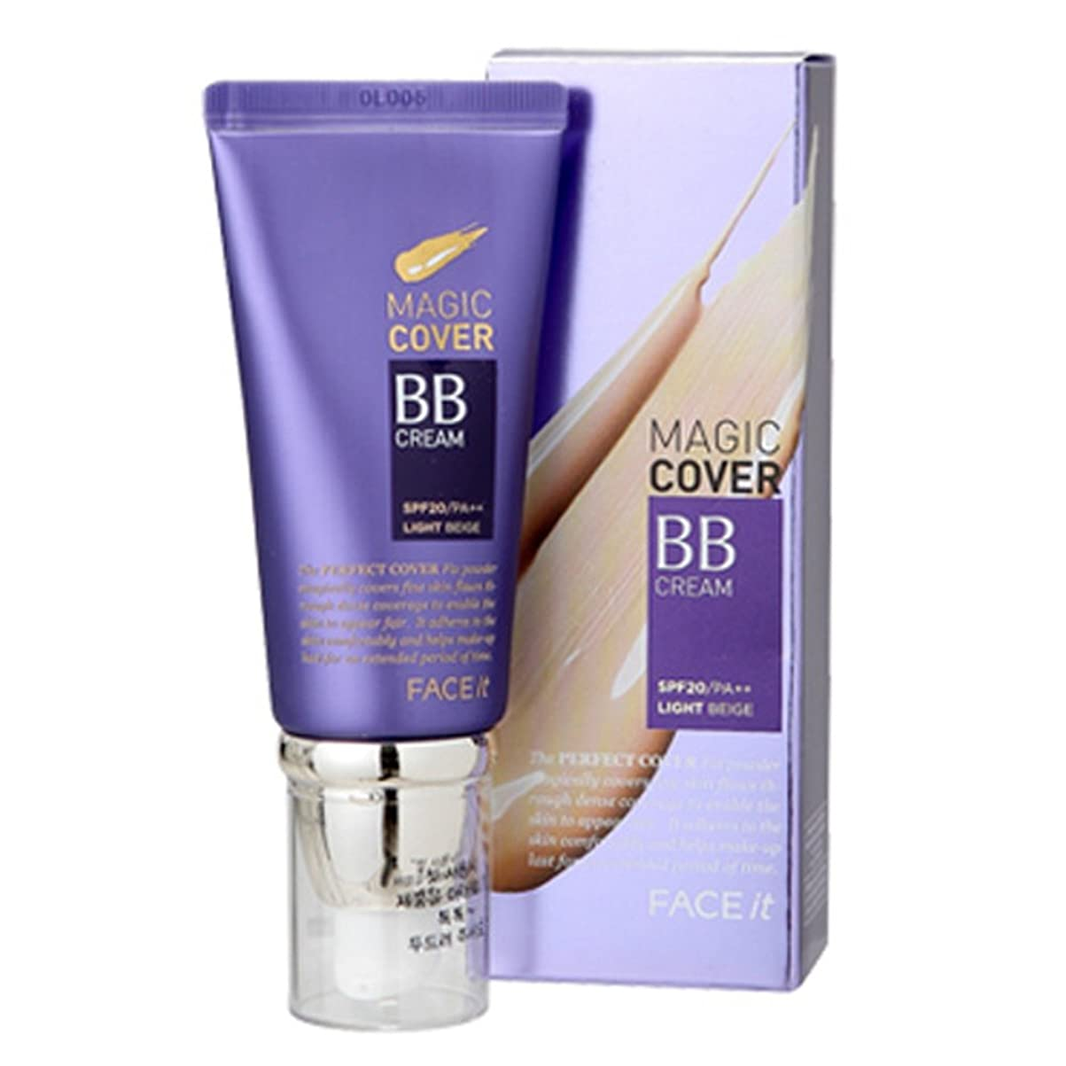 悔い改めるゴム複雑なザフェイスショップ The Face Shop Face It Magic Cover BB Cream 45ml (02 Natural Beige)