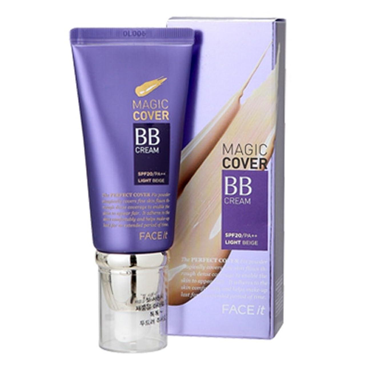 提供された苛性楽なザフェイスショップ The Face Shop Face It Magic Cover BB Cream 45ml (01 Light Beige)
