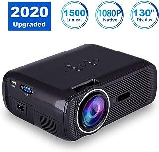 Multimedia Supporto Full HD Proiettore Video 1080P HDMI VGA USB AV SD EU ASHATA Portable Proiettore HD Home Theater da 1500 Lumens LED Mini Proiettore per Video Movie Game Home Entertainment ecc.