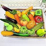 SunAngel Artificial Vegetables, Lifelike Simulation Realistic Fake Vegetables for Home Decoration(22pcs)