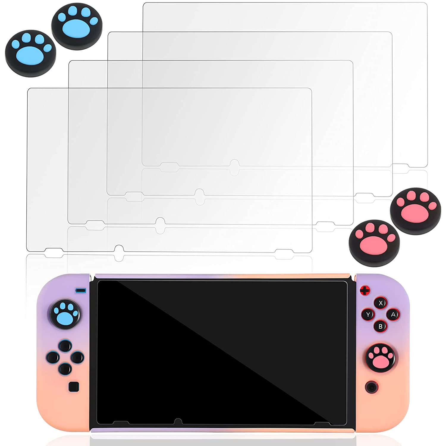 trend rank 4 Pieces Glass Milwaukee Mall Screen Protector Switch Nintendo Compatible with