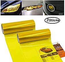 Ma/ße Carchet/® selbstklebende Folie f/ür Autoscheinwerfer gelb 30/x 60 cm