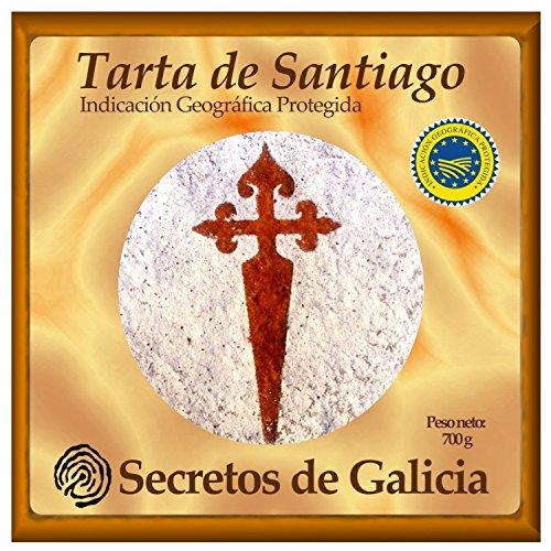 Tarta de Santiago Artesanal 700 g. Certificada por Indicación Geográfica Protegida (IXP) Galicia.