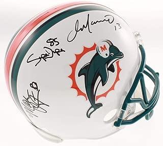 Dan Marino Mark Clayton Mark Duper Miami Dolphins TRIPLE Signed Autograph Full Size Helmet JSA Certified