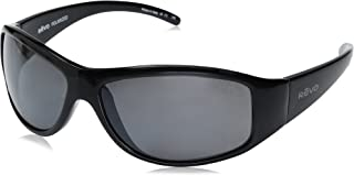 Revo Re 5014 Tander Wraparound Polarized Wrap Sunglasses, Shiny Black Graphite, 64 mm