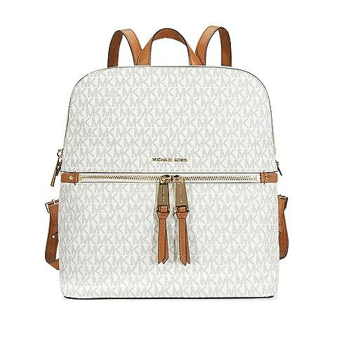 f90210e96b91 MICHAEL Michael Kors Rhea Medium Slim Backpack (Signature Vanilla)