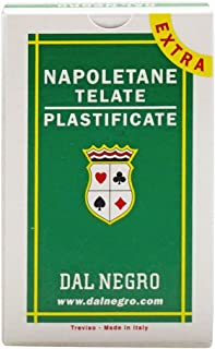 Dal Negro Napoletane 81 Extra 014004 Italian Regional Playing Cards, Green Case - Deck of 40 Cards [ Italian Import ]